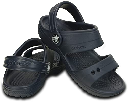 d0e1f3b84 Crocs Classic Sandal K Unisex Kids Navy Sandals  Shoes  200448-410-C6  Buy  Online at Low Prices in India - Amazon.in