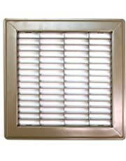 """8"""" X 6"""" Floor Grille - Fixed Blades Return Air Grill - Brown [Outer Dimensions: 9.75 X 7.75]"""