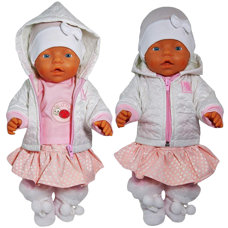 Unbekannt Puppenkleidung 6-TLG Set f/ür Puppe wie z.B Set f/ür Jungen Baby Born bis 43 cm