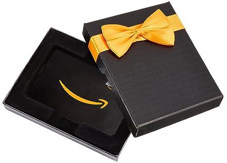 Amazon Co Uk Gift Card For Custom Amount In A Black Box Amazon Co