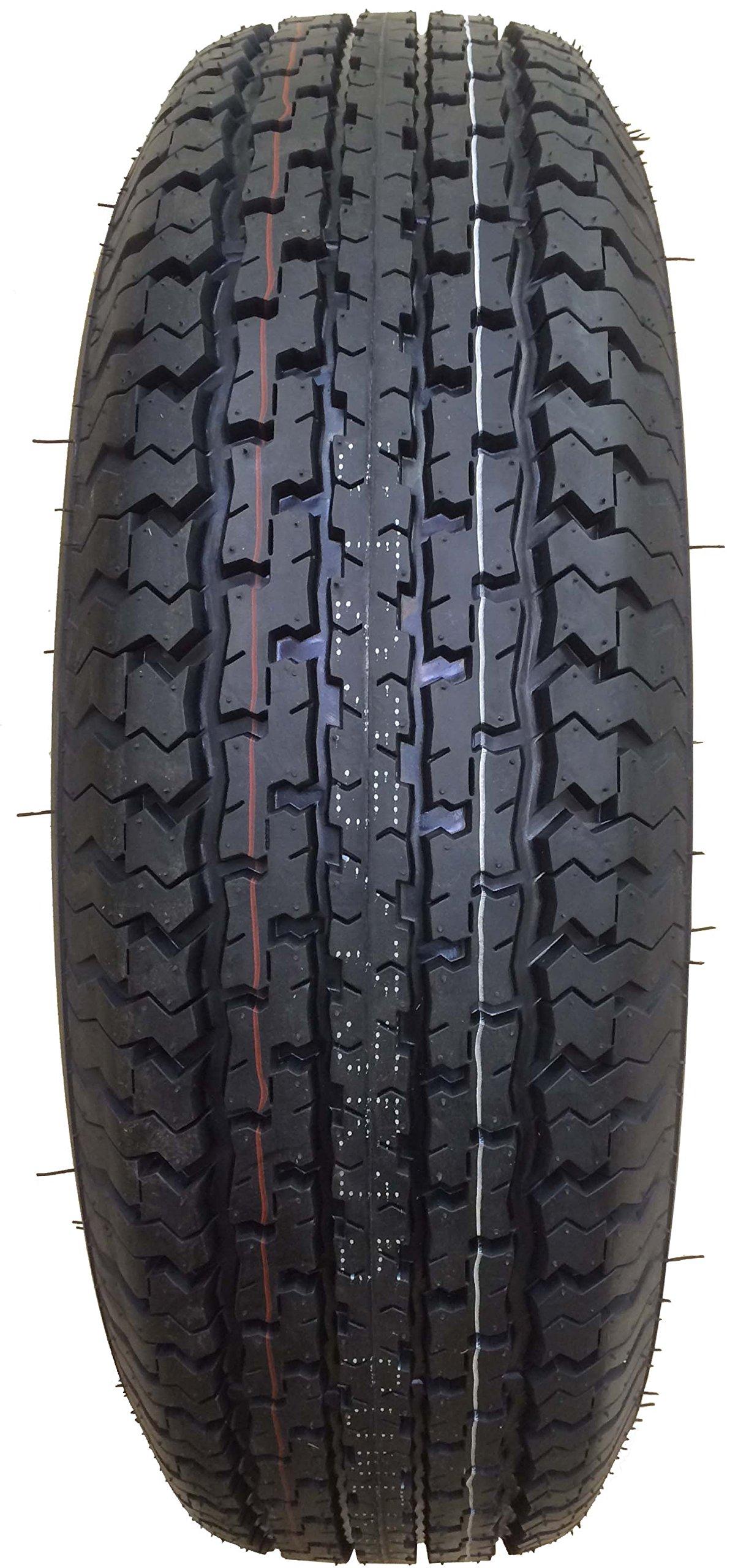 2 New Premium Trailer Tires ST 225/75R15 10PR Load Range E - 11017