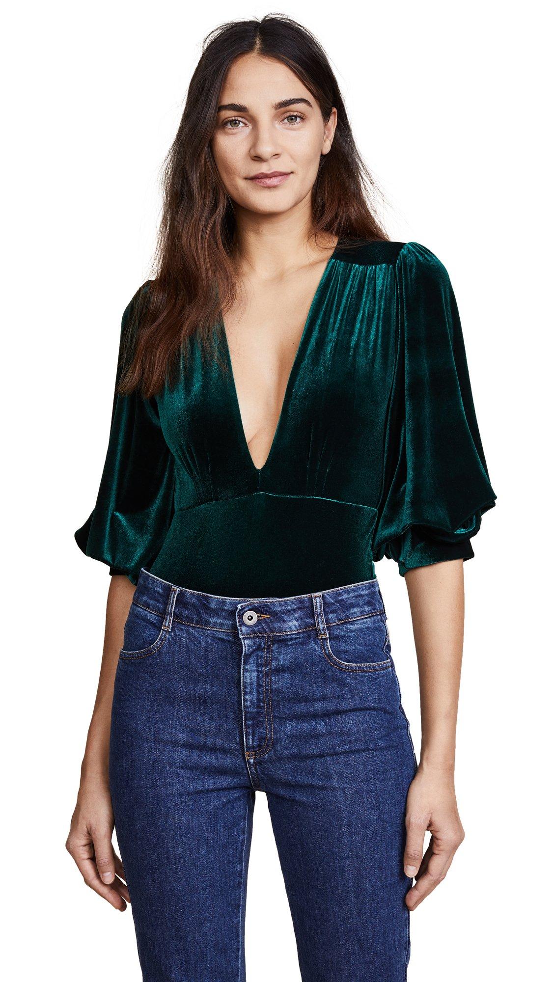 MISA Women's Reem Bodysuit, Green, Medium