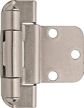 1 Pair Concealed Bearing Triple Knuckle Hinge Radius Satin SS 100x73x3 mm