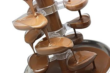 JM Posner - Fuente de chocolate (incluye 900 g de chocolate con leche belga): Amazon.es: Hogar