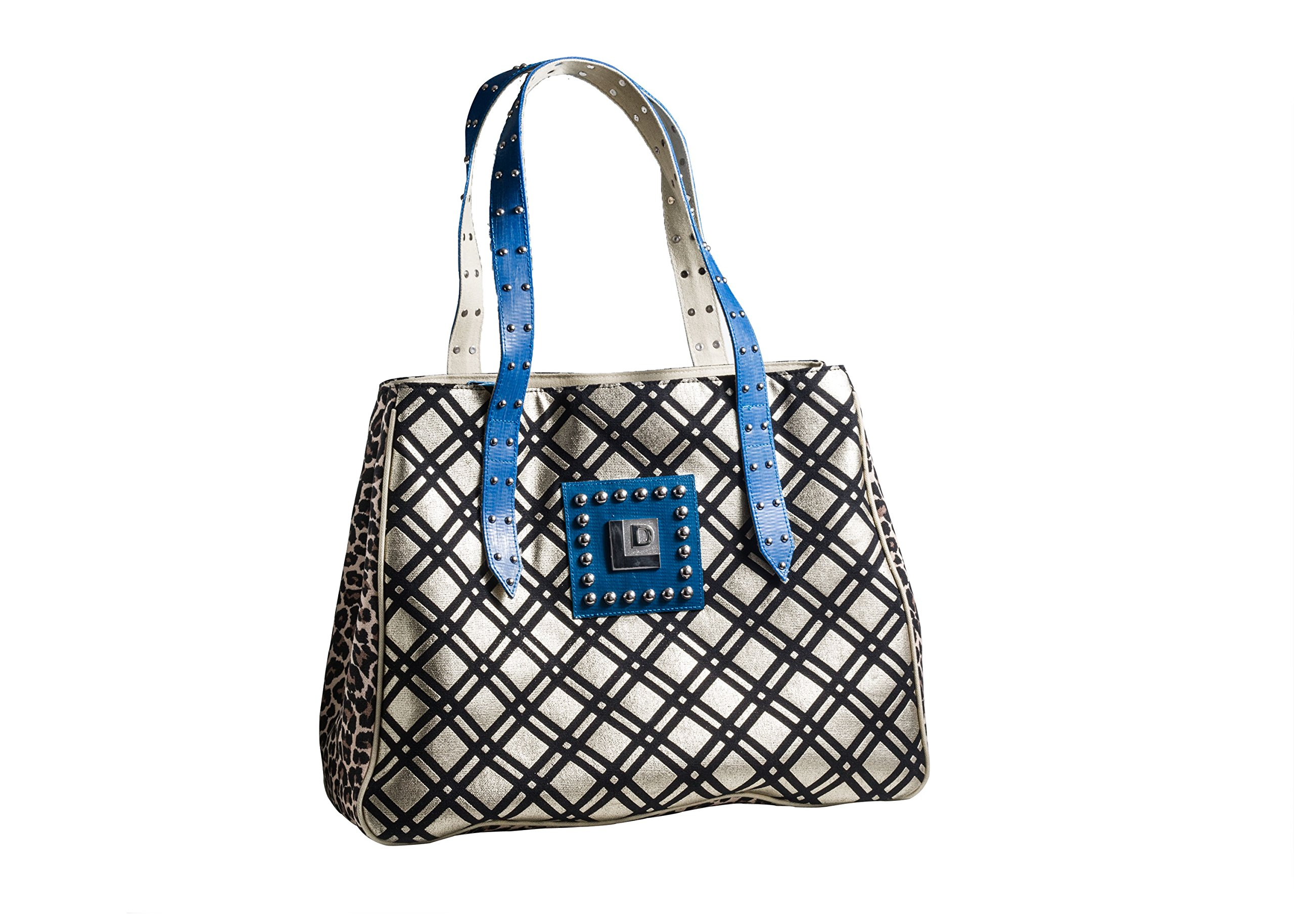 Landfill Dzine Plaid Leopard Print Recycled Handbags