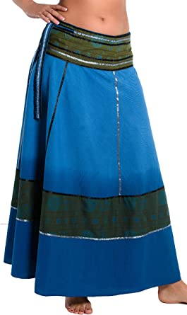ufash Falda Cruzada teñida al Batik - Falda Unisex de la India, 92