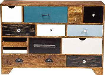 Kommode Babalou 14 Schube Modernes Schmales Sideboard