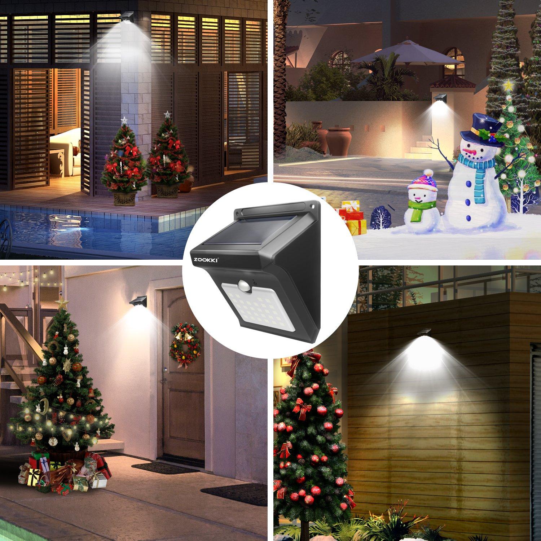 ZOOKKI Solar Lights Outdoor 28 LED Super Bright Motion Sensor