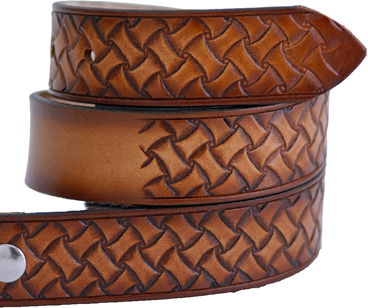High Springs Leather Childrens Name Belt Weave Design Personalized