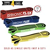 Bionic Flex Pull Up Assist Band – Ultra Durable Resistance Bands for Strength Training Exercise, Physical Therapy, Powerlifting, Stretching by Epitomie Fitness