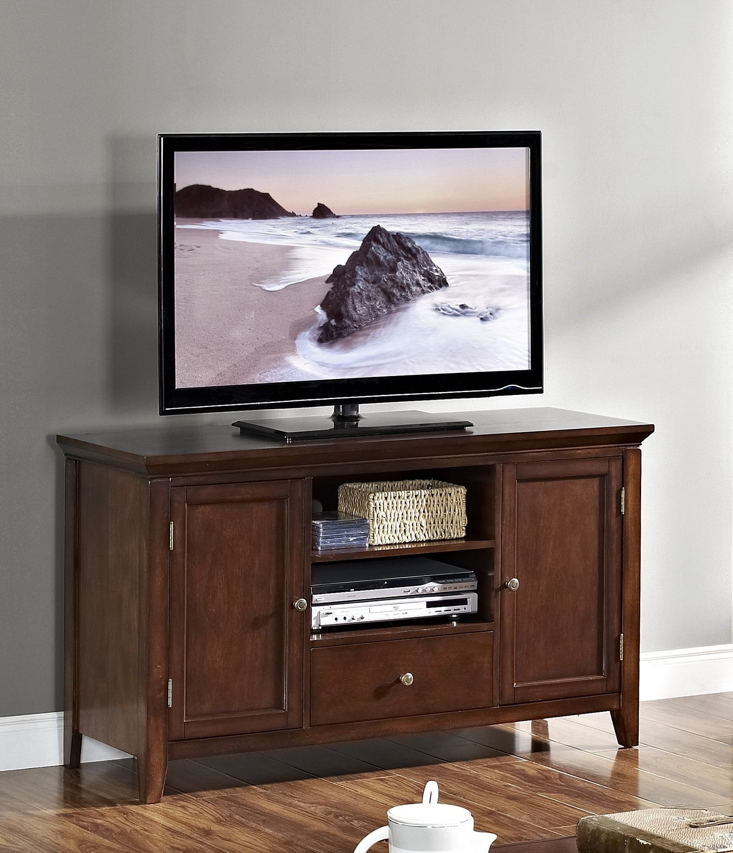 New Classic Terrace African Chestnut Entertainment Console by New Classic Furniture
