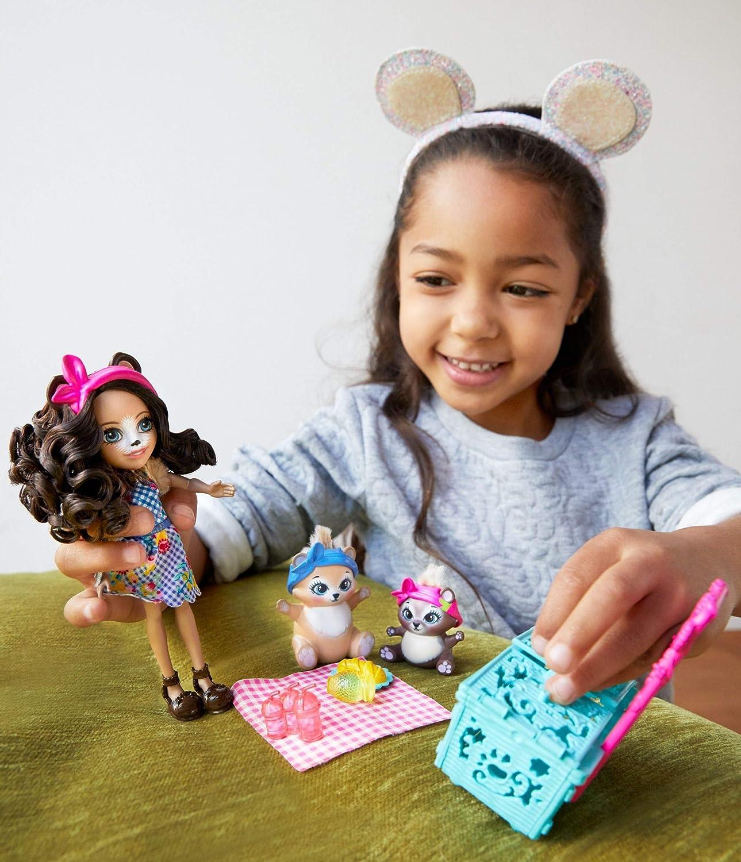 mu/ñeca con accesorios Mattel FCG78 Enchantimals Fiesta de pijamas