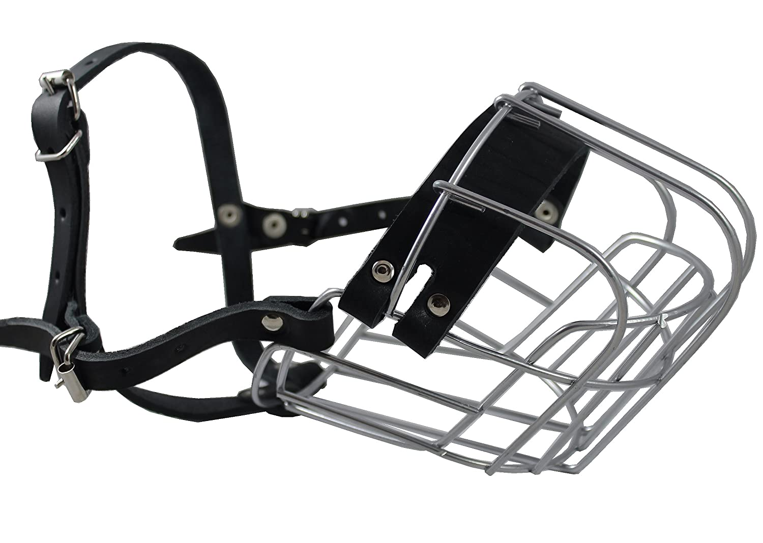 Amazon.com : Dogs My Love Metal Wire Basket Dog Muzzle Rottweiler ...