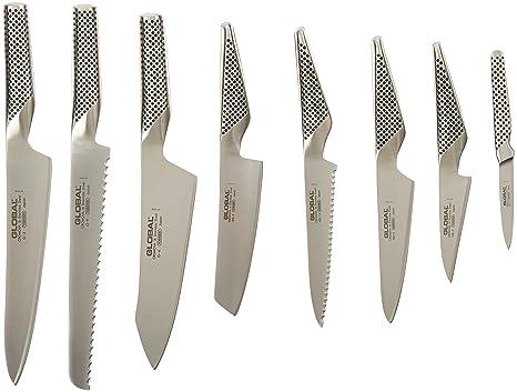 Amazon.com: Global g-888/91st – 9 pieza Juego de cuchillos ...
