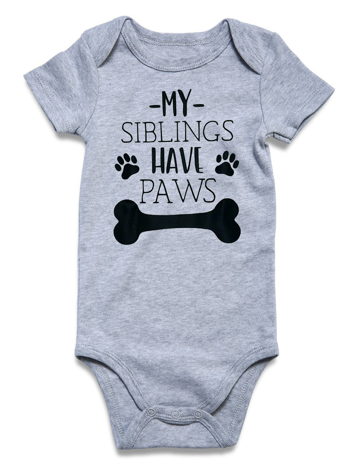 Cutemefy Cool Infant Baby My Sibling Have Paws Short Sleeve Letter Print Romper Jumpsuit Underwear