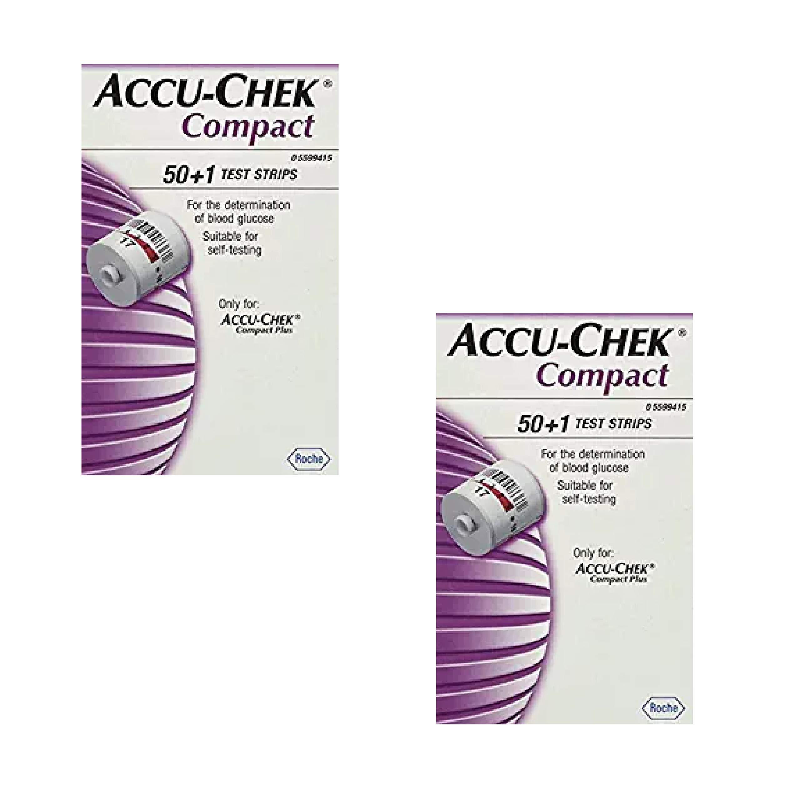 Accu Chek Compact Test Strips 51 Each (2 Pack)
