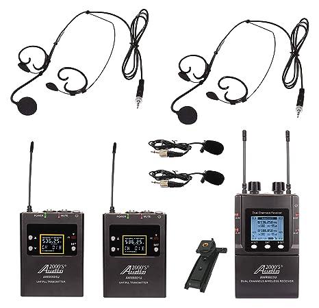 Audio2000S AWM6601U - Auriculares de diadema con micrófono y ...