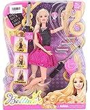 Babytintin Hair Studio Pink Black Hairtastic Endless Curls Doll Toy for Doll Set for Girls (Hair Studio Doll Set)