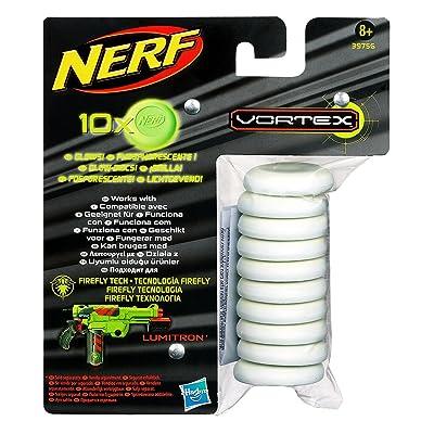 NERF Vortex Glow in The Dark Ammo Refills 10-ct: Toys & Games