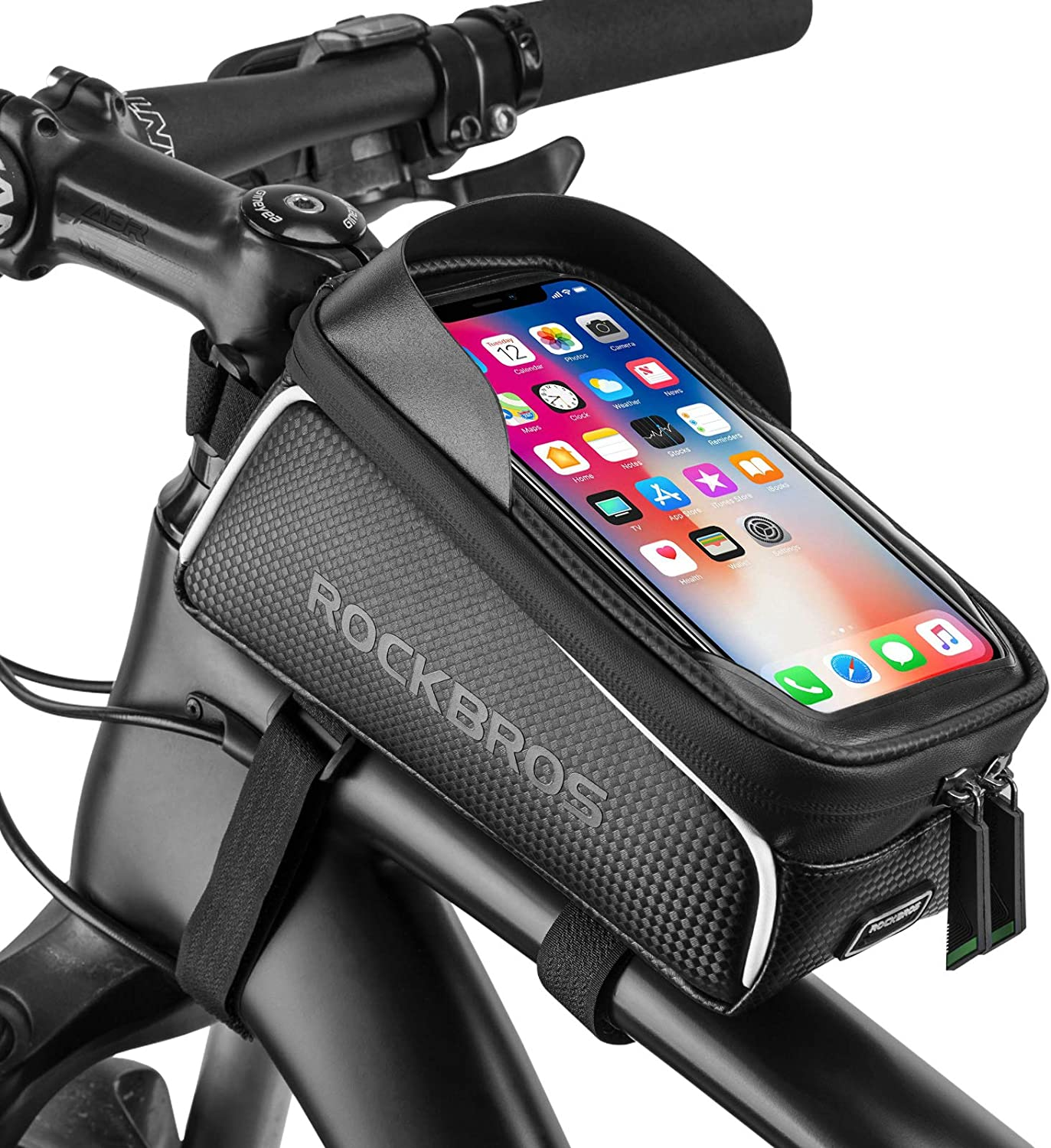 Waterproof Cycling Bike Bicycle Front Tube Frame Saddle Storage Bag Phone Pouch