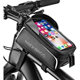 Bike Phone Front Frame Bag Bicycle Bag Waterproof Bike Phone Mount Top Tube Bag Bike Phone Case Holder Accessories…