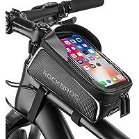 ROCKBROS Bike Phone Bag Bike Front Frame Bag Waterproof Bicycle Phone Mount Bag Phone Case Holder Cycling Top Tube Frame…