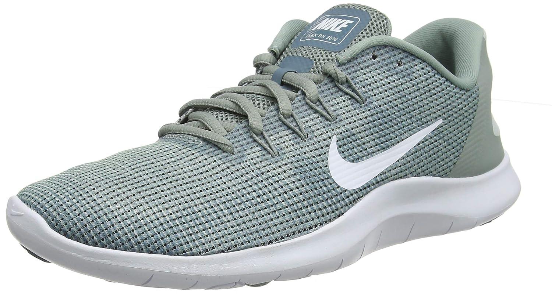 Mica Green White Light Silver Nike Men's Flex 2018 Rn Running shoes