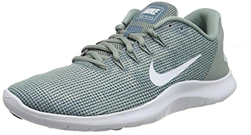 fdcbefac16f69 Nike Women's Flex RN 2018 Running Shoe Mica Green/White/Light Silver Size  6.5 M US