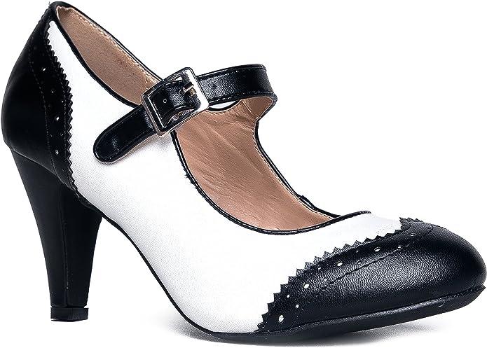 oxford pump heels