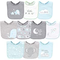 Luvable Friends Unisex-Baby Interlock Cotton Drooler Bibs