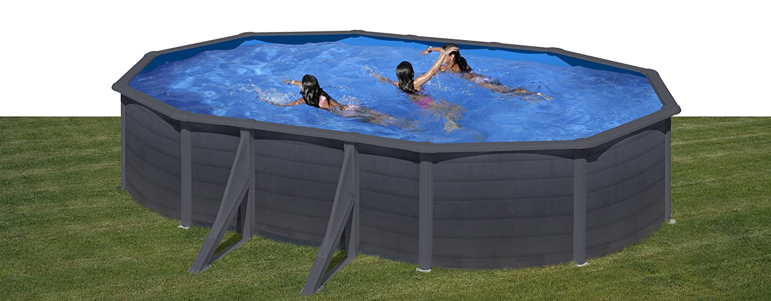 Piscina desmontable GRE Kea ovalada Grafito - 500 x 300 cm.: Amazon ...