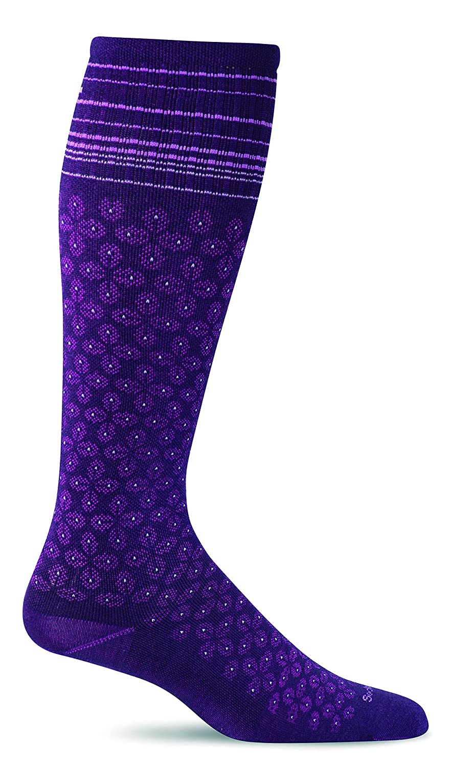 Sockwell Floral Pindot Sock with a Helicase Sock Ring