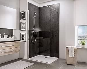 Schulte 4060991014444 mampara de ducha fija, transparente, 120 x ...