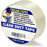 Transparent Duct Tape, Ultra High Performance Weather Resistant Tape for Discreet Repairs and Mounting   Residential, Commercial and Industrial Uses   2 inch by 30 Yards