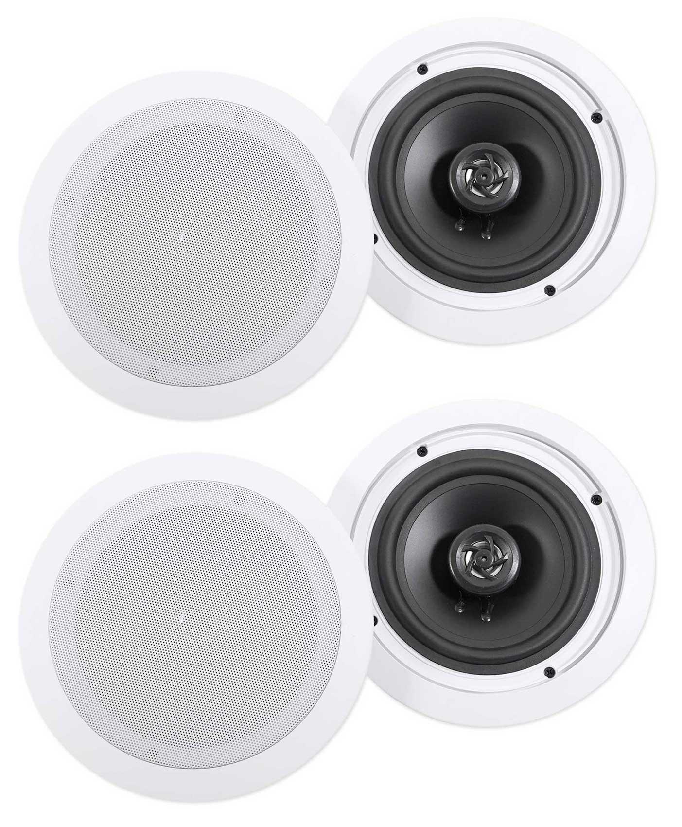 (4) Rockville HC655 6.5'' 500 Watt In-Ceiling Home Theater Speakers 8 Ohm by Rockville