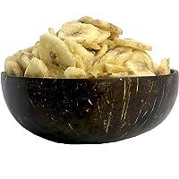 Amrita Unsulfured Dried Banana Chips 8 oz Sweetened - Packed Fresh in Resealable Bulk Bags - Non GMO - Dehydrated Banana…