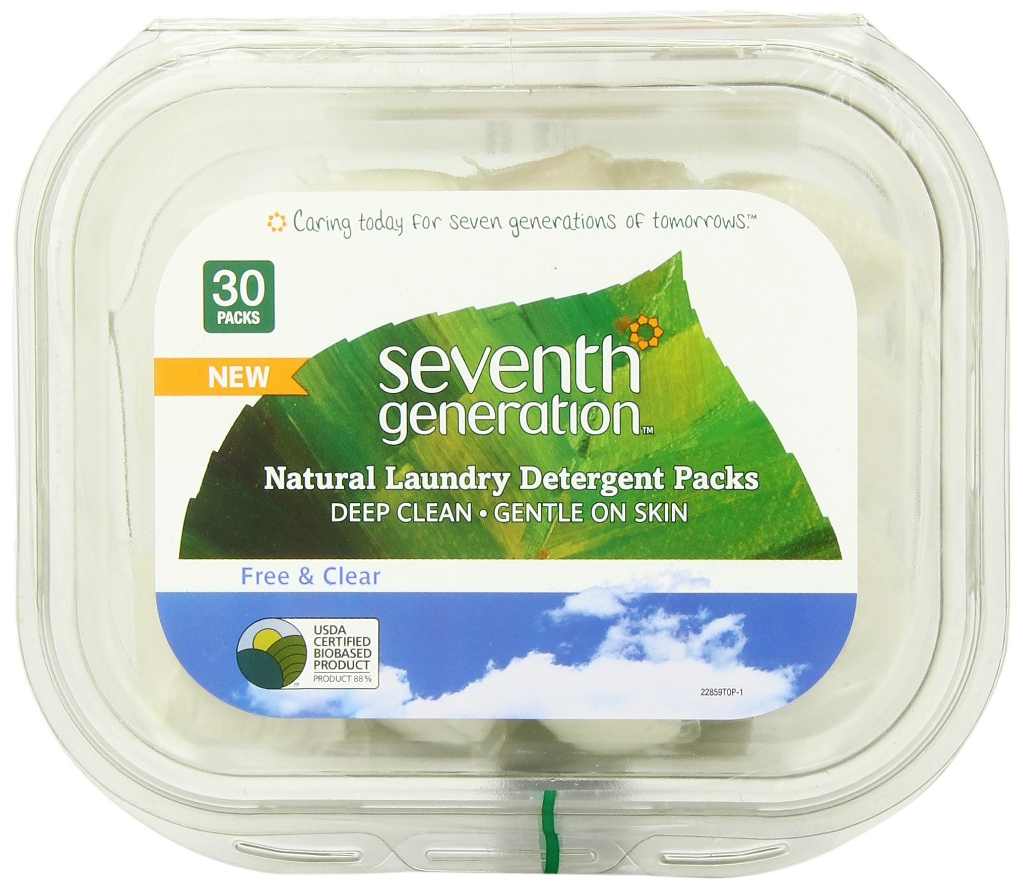 Seventh Generation Natural Laundry Detergent Packs, Free and Clear, 30 Count (pack of 2) by Seventh Generation (Image #3)
