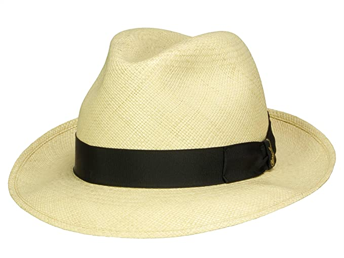 Borsalino Men s Fedora Hat Panama Quito Tesa Media - Nature 213f286aea2f