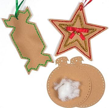 Baker Ross Diseña Tus propias Decoraciones navideñas de Costura ...