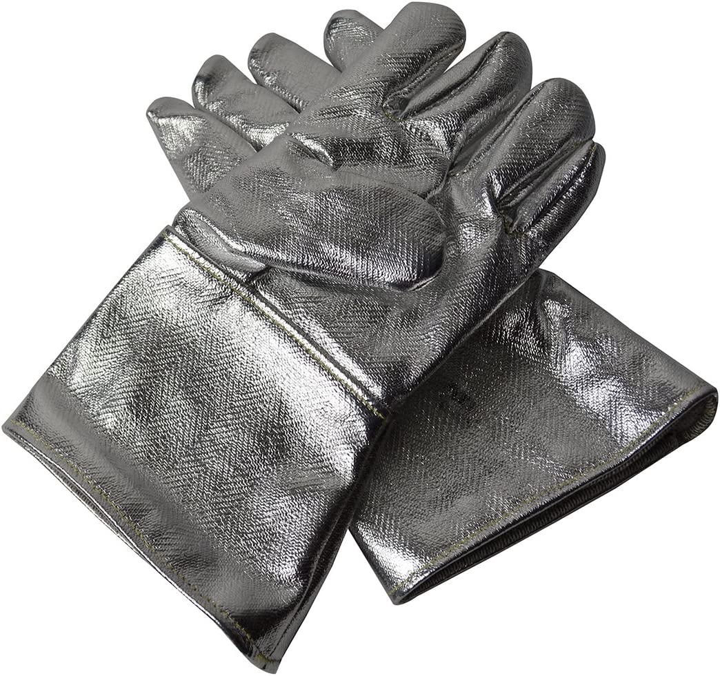 14 Aluminized Carbon Kevlar Gloves for Jewelry Making Gold Melting Refining Precious Metal Casting