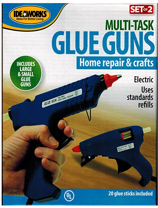 2 Hot Glue Guns Large and Small Includes 20 Sticks Crafts Electric Home Repair