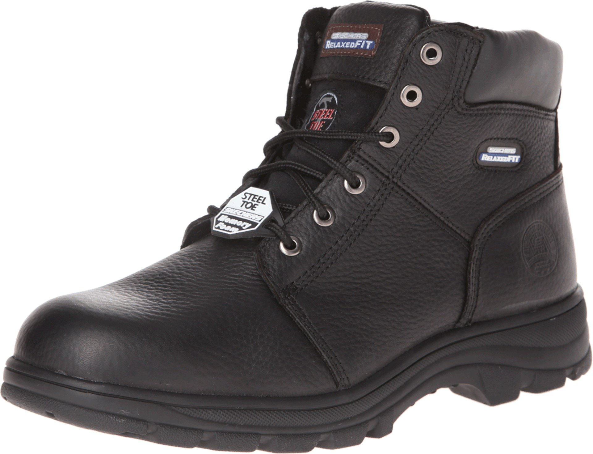 Skechers for Work Men's Workshire Relaxed Fit Work Steel Toe Boot,Black,10.5 M US