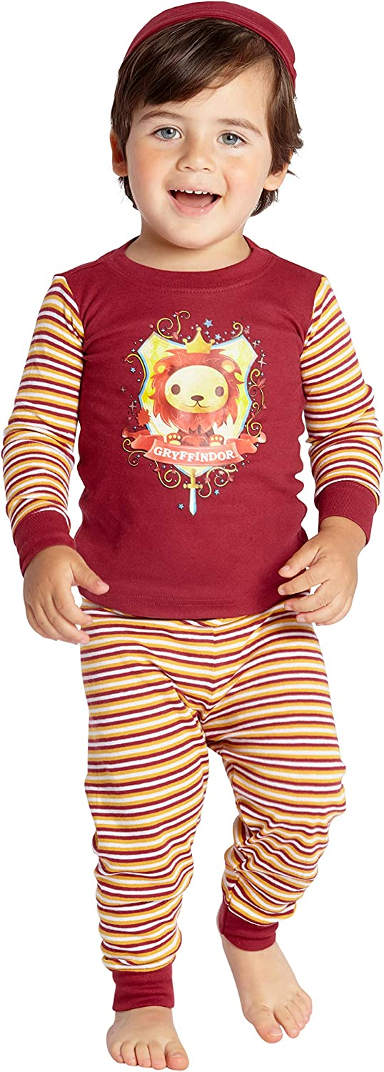 Harry Potter Baby Pajamas House Crest Logo Pet Cotton Infant Shower Gift Set