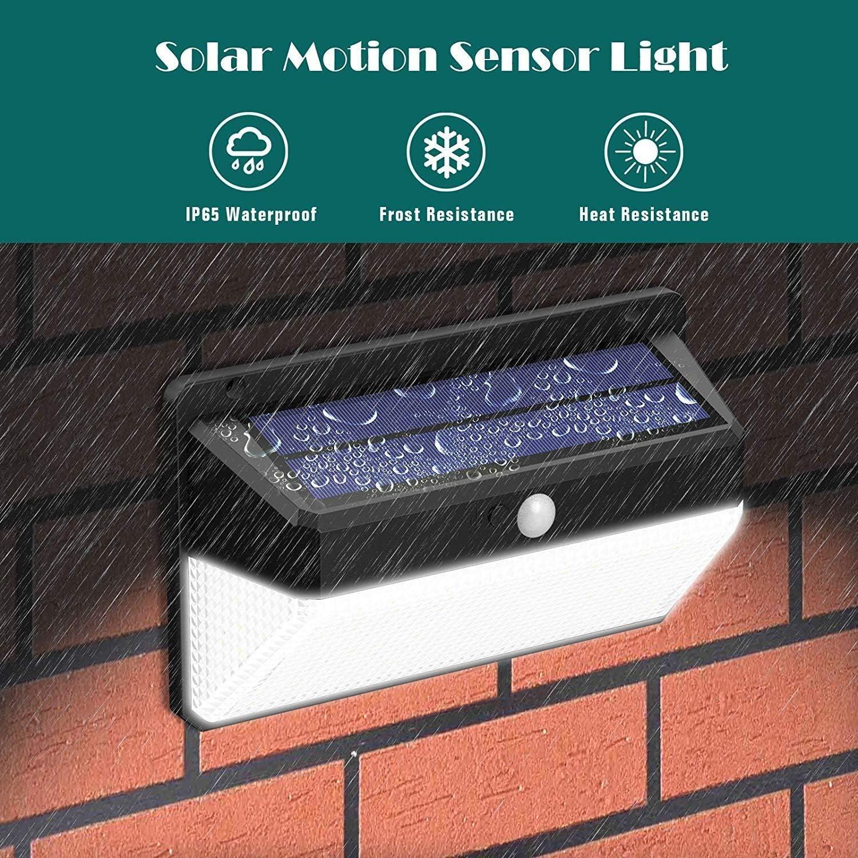 118 LED Solarleuchte Solar lampe Außen Strahler Bewegungsmelder PIR Sensor Licht