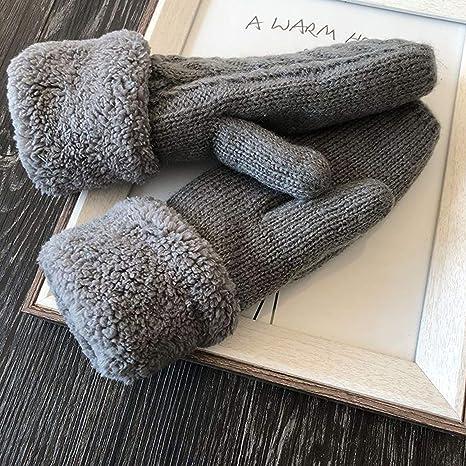 Baby Warm Twist Gloves Cartoon Plush Winter Warm Mittens with Hanging String for Boy Girls B#//Navy Blue