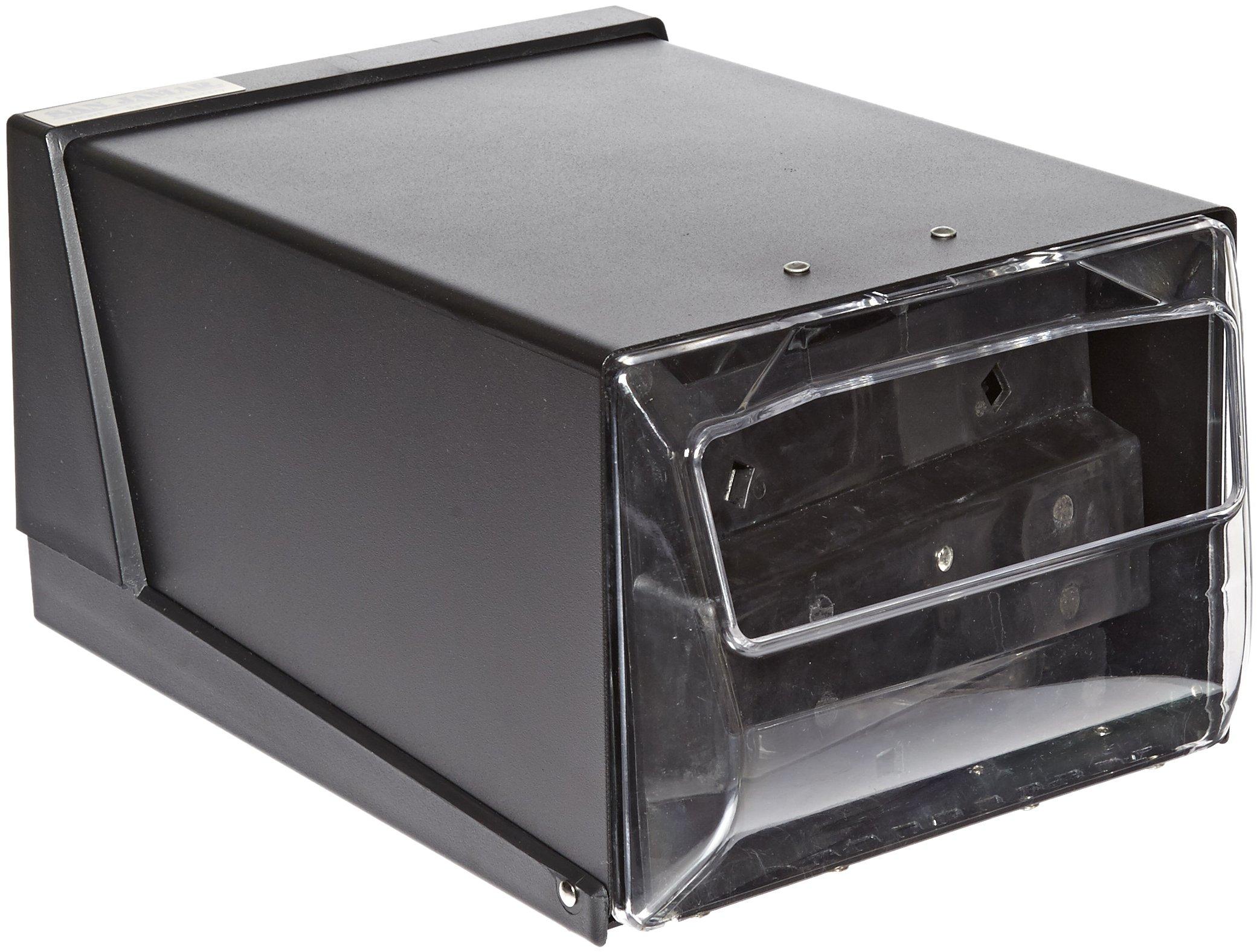 San Jamar H3001 Countertop Fullfold Napkin Dispenser, 300 Capacity, 7-5/8'' Width x 5-1/2'' Height x 11'' Depth, Clear/Black by San Jamar