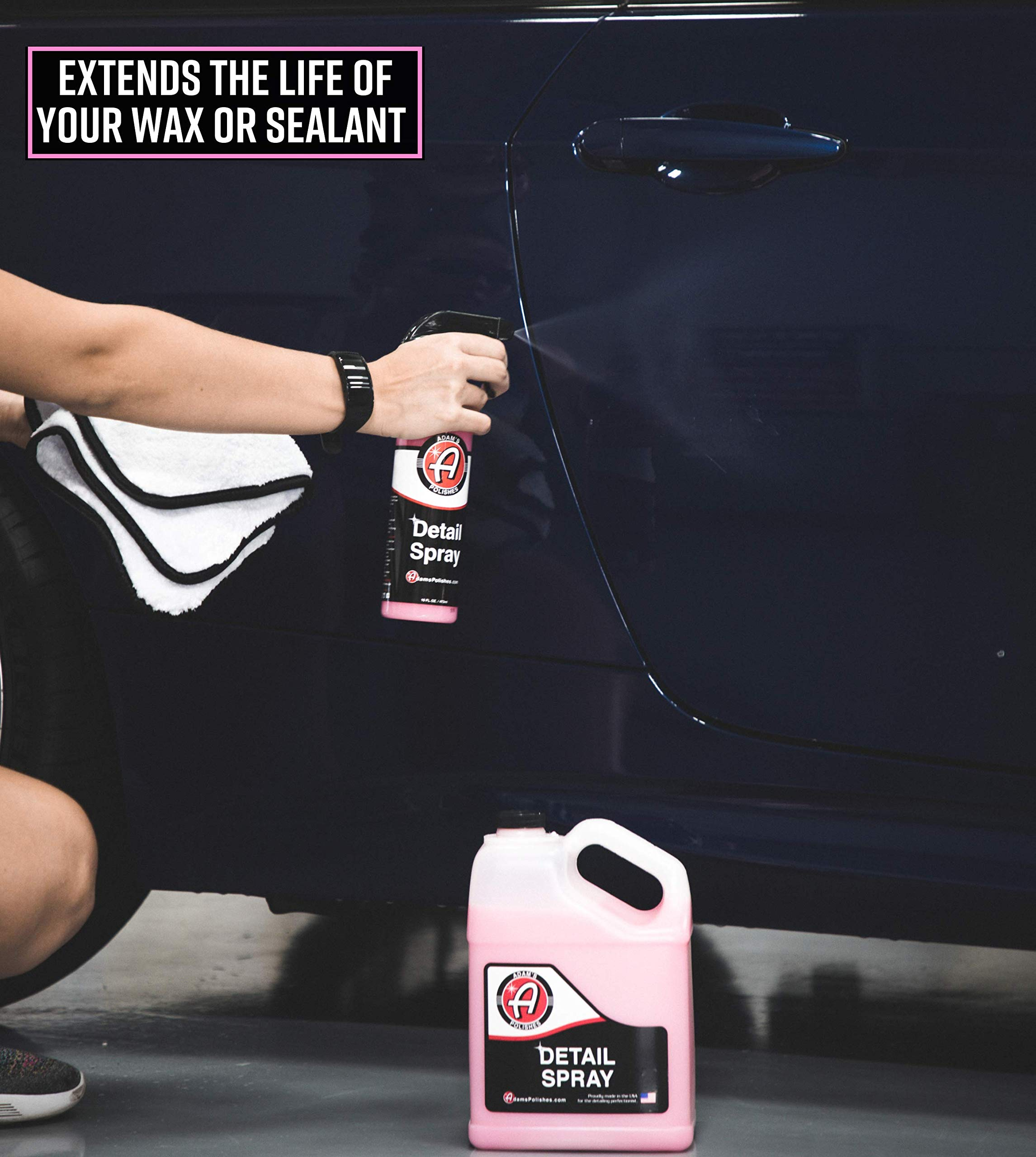 Adam's Detail Spray - Enhance Gloss, Depth, Shine - Extends Protection with Wax Boosting Technology - Our Most Iconic Product, Guaranteed to Outshine The Competition (5 Gallon) by Adam's Polishes (Image #5)