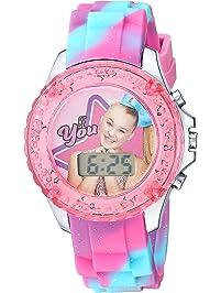 3ea573aca Nickelodeon Girls' Quartz Watch with Plastic Strap, Pink, 16.3 (Model:  JOJ4006