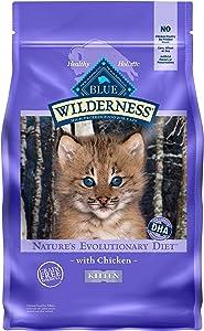 Blue Buffalo Wilderness High Protein Grain Free Natural Kitten Dry Cat Food, Chicken 5 Lb