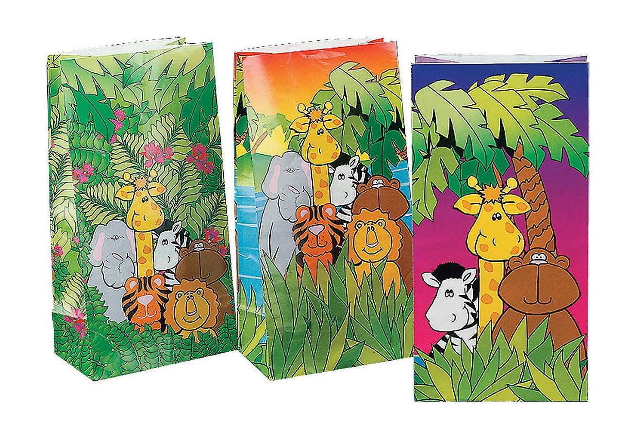 amazon com fun express jungle birthday party loot gift paper